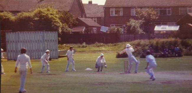 Batting For Caverswall Cricket Club 1980